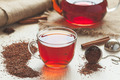 Traditional organic rooibos tea in rustic style with faded instagram filter - PhotoDune Item for Sale