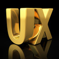 UX gold letters - PhotoDune Item for Sale