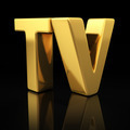TV gold letters - PhotoDune Item for Sale