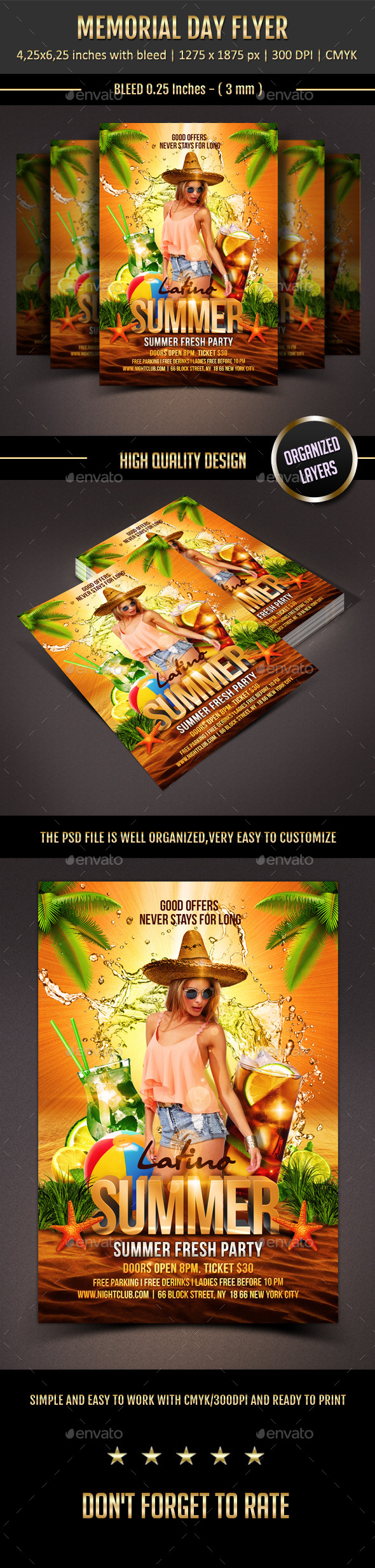 GraphicRiver Latino Summer Flyer 11209055
