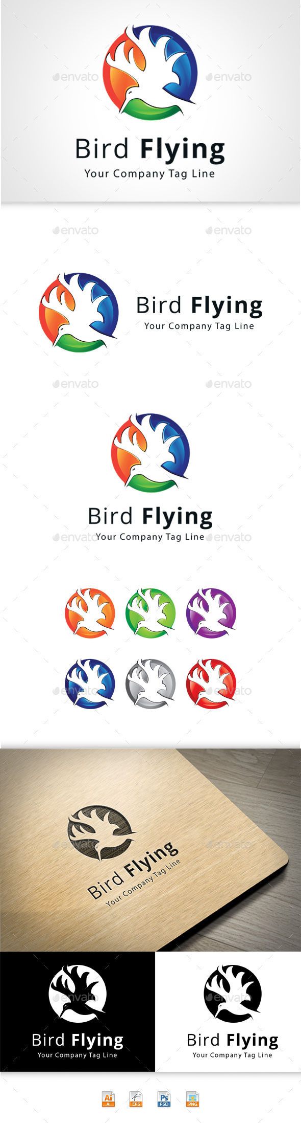 GraphicRiver Bird Flying 11209097