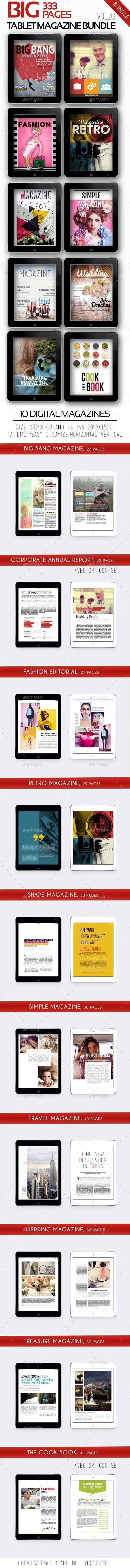GraphicRiver Big iPad &Tablet Magazine Bundle Vol.03 11168993