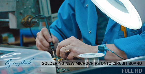 Soldering New Microchips Onto Circuit Board