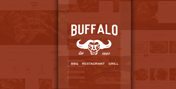 ThemeForest Buffalo An Exquisite Restaurant HTML Template 11209314