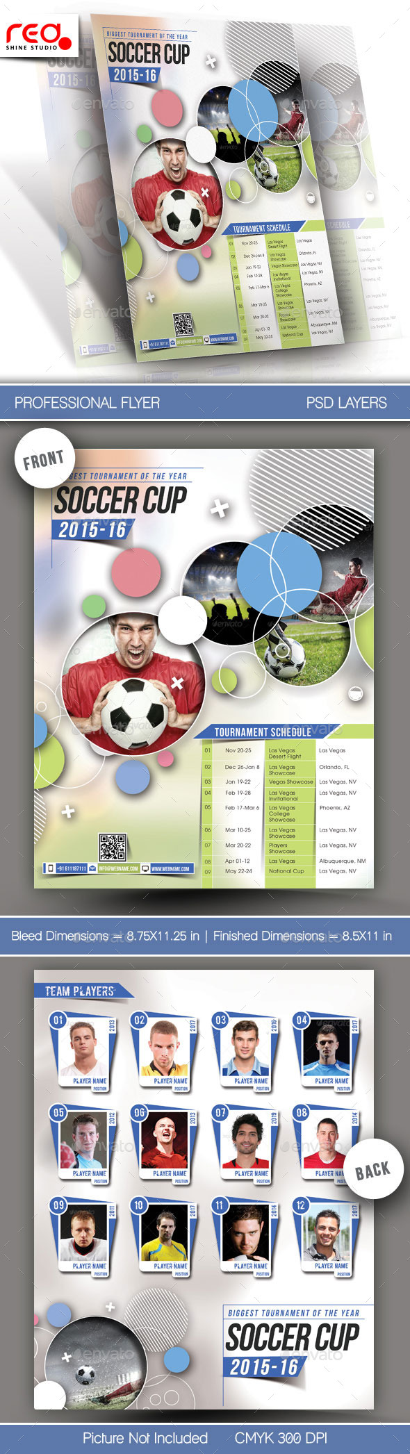 GraphicRiver Sport Multipurpose Flyer & Poster Template 11209319