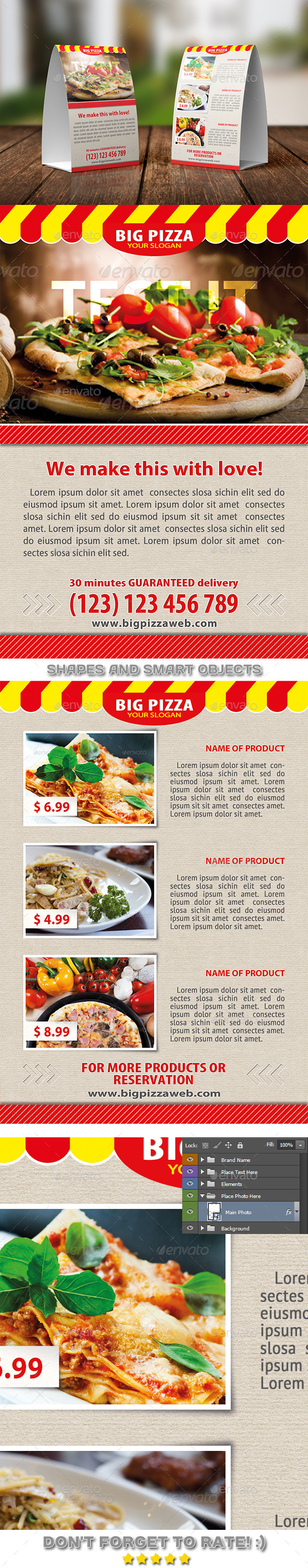 GraphicRiver Big Pizza Table Tent Template 04 11209820
