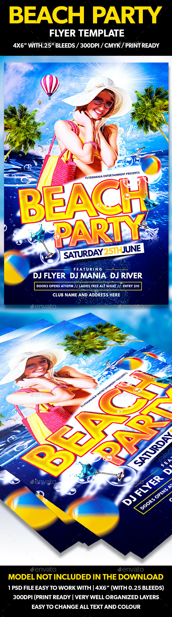 GraphicRiver Beach Party Flyer Template 11209983
