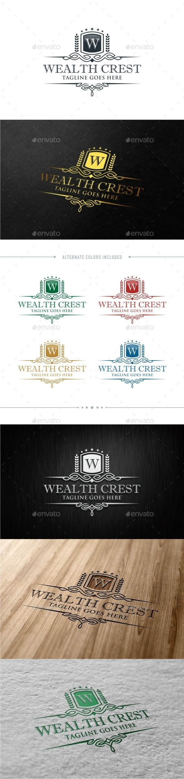 GraphicRiver Wealth Crest 11209982