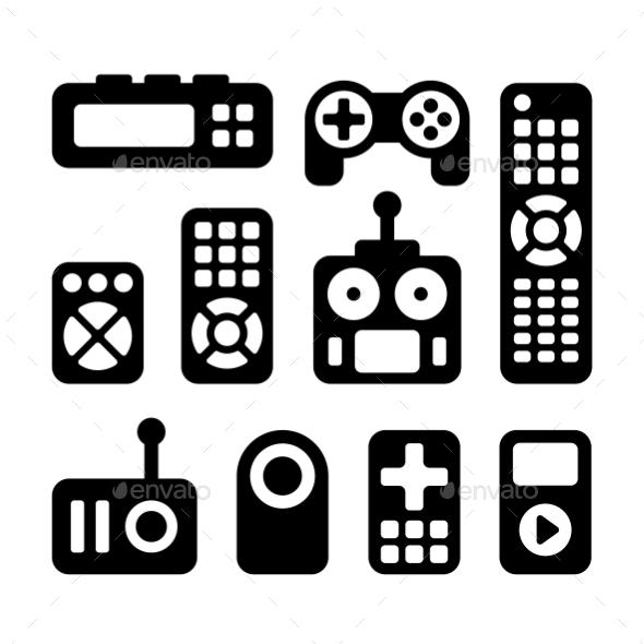 GraphicRiver Remote Control Icons Set 11209985