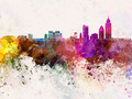 Mobile skyline in watercolor background - PhotoDune Item for Sale