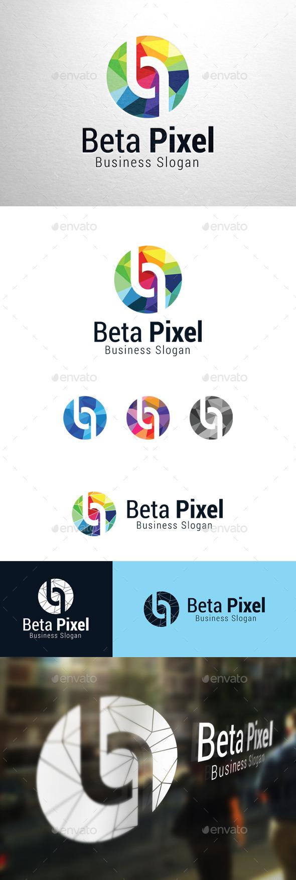 GraphicRiver Beta Pixel Letter p & b Logo 11184471