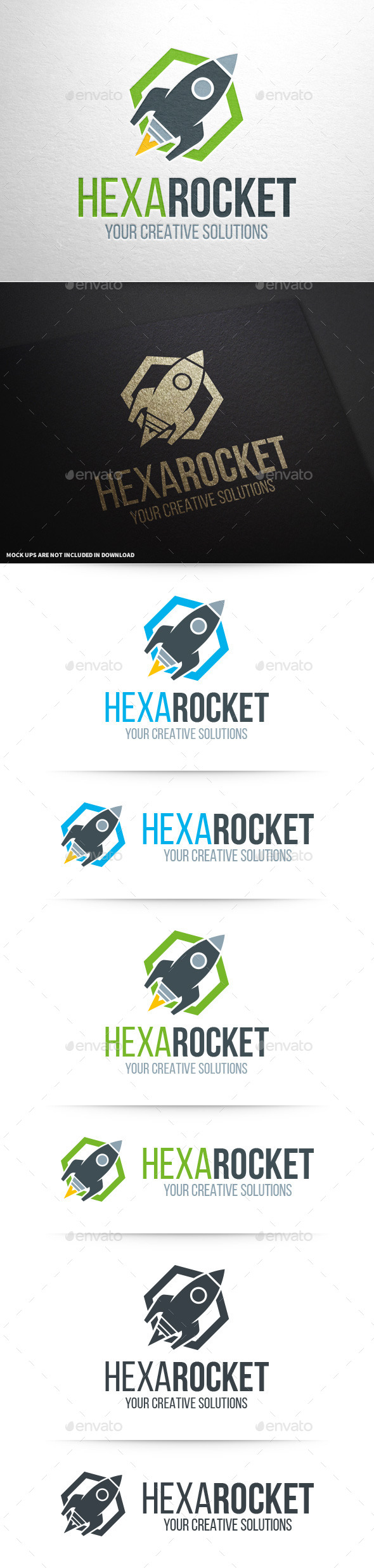 GraphicRiver Hexa Rocket Logo Template 11210144