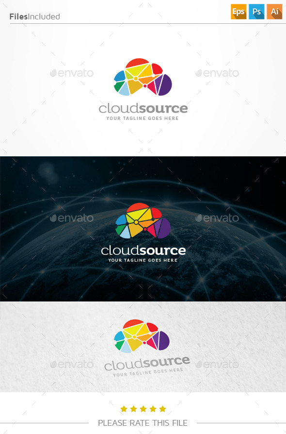 GraphicRiver Cloud Source Logo 11210184