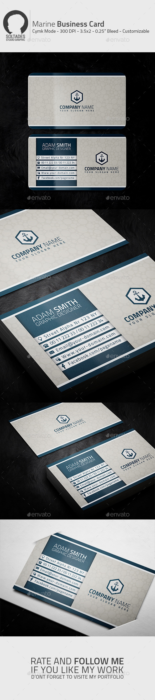 GraphicRiver Marine Business Card 11210261