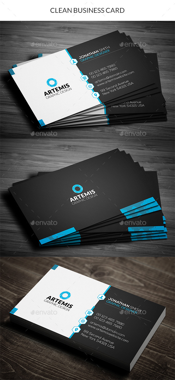 GraphicRiver Clean Business Card 11210318