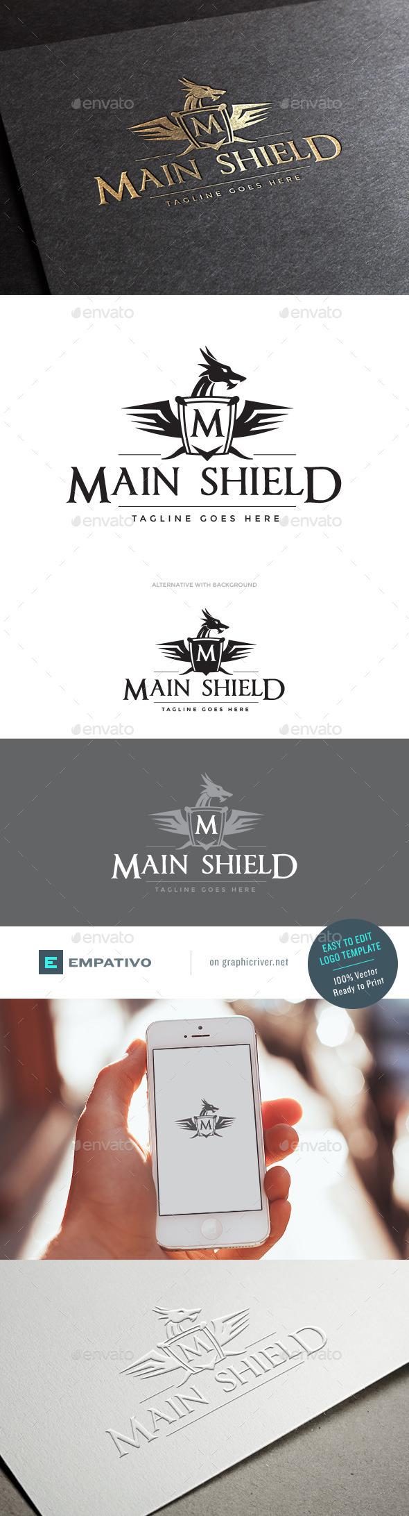 GraphicRiver Main Shield Logo Template 11179241