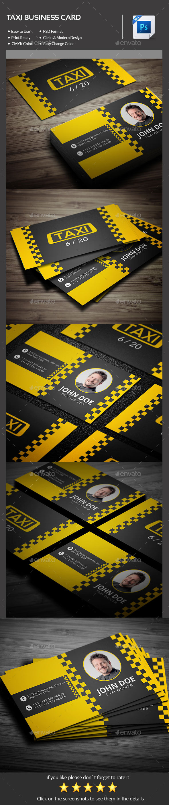 GraphicRiver Taxi Business Card 11210609