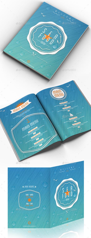 GraphicRiver Sea & Summer Food Menu 11210938