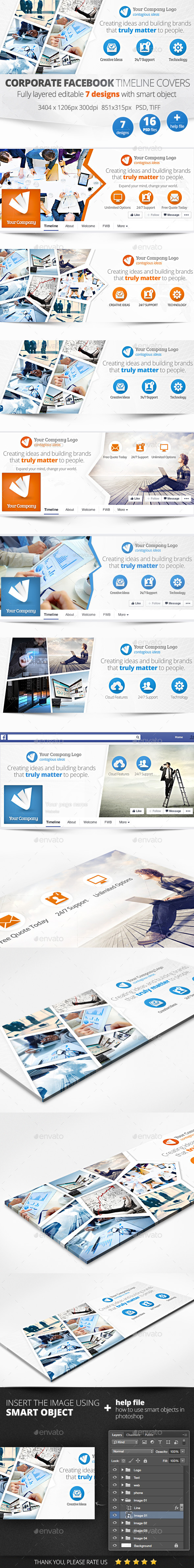 GraphicRiver Corporate Facebook Timeline Covers 11211203