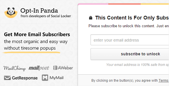 Opt-In Panda for Wordpress Review