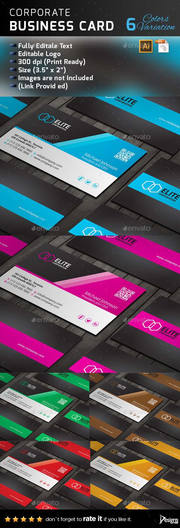 GraphicRiver Business Card 141 11211574