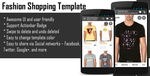 CodeCanyon Android Fashion Shopping Template 10950597