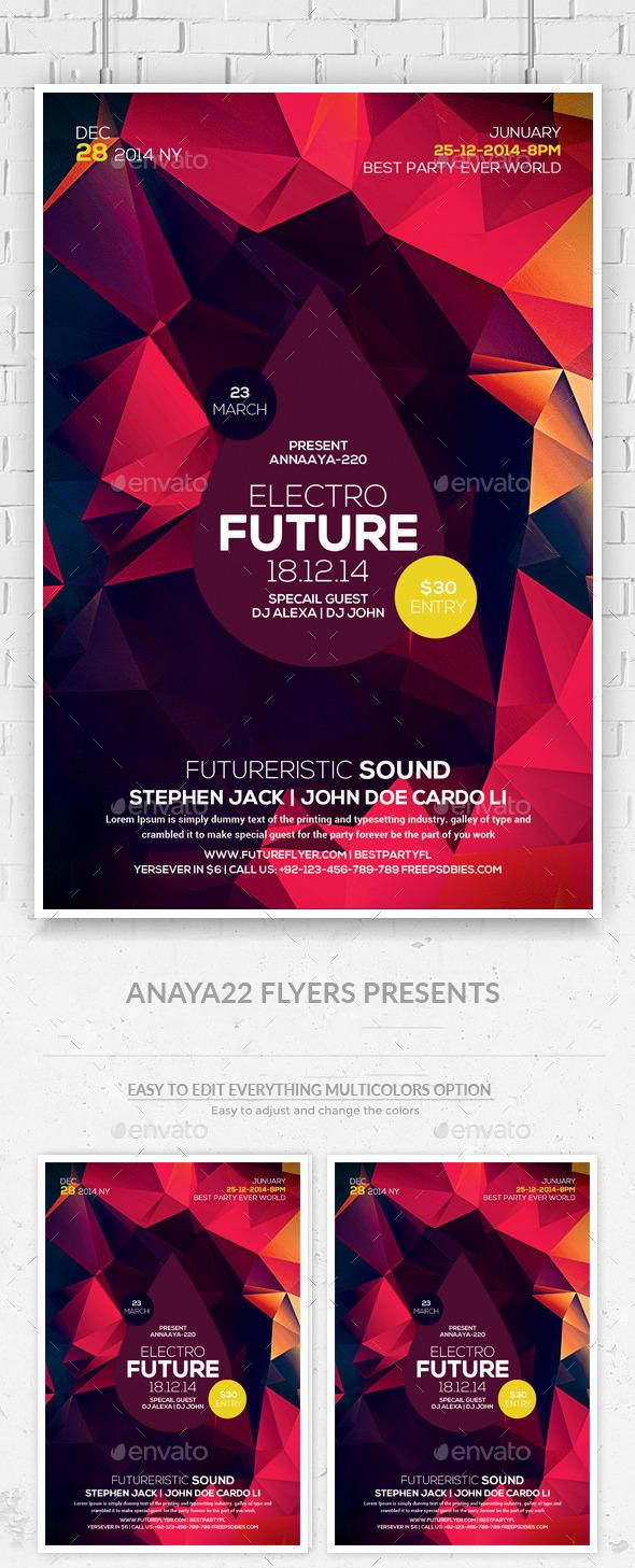 GraphicRiver Minimal Futuristic Psd Flyer Templates 11211652