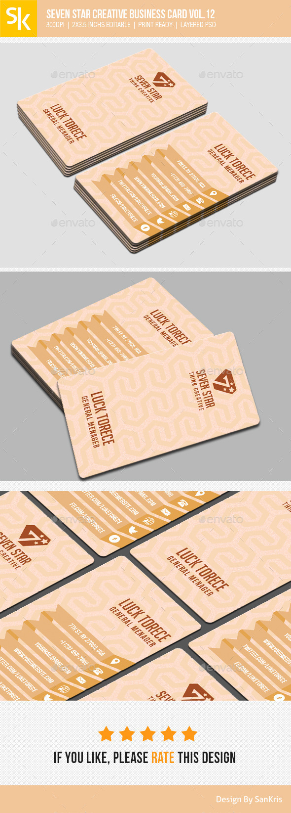 GraphicRiver Seven Star Creative Business Card Vol.12 11211762