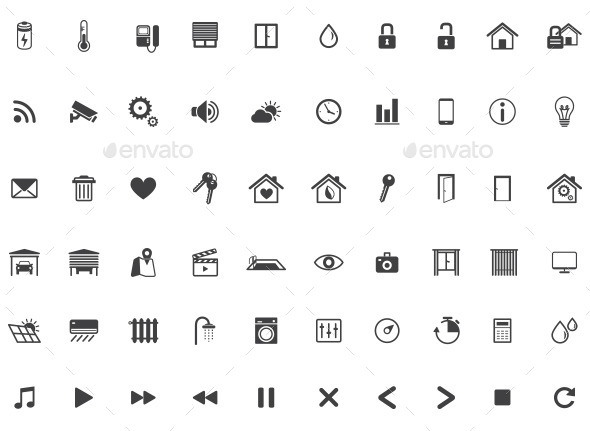 GraphicRiver Home Automation Smart Home Icon Set Vector 10683103