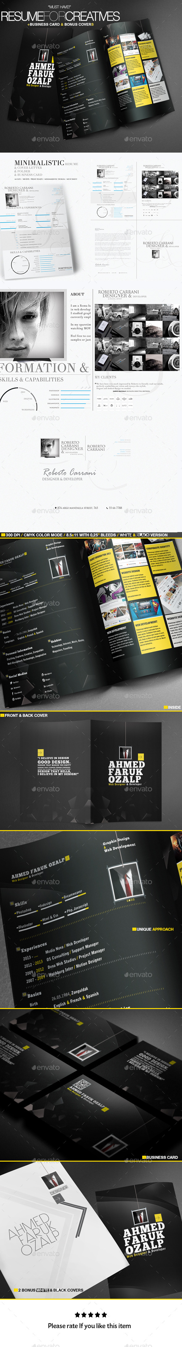 GraphicRiver A Great Deal Creative Resume Templates 2in1 11212016