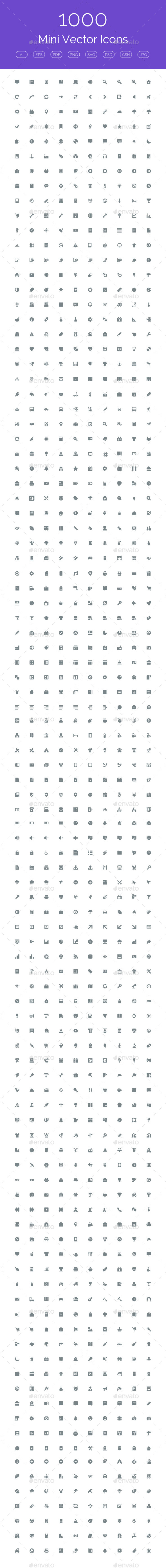 GraphicRiver 1000 Mini Vector Icons 11212182