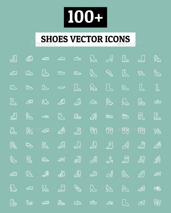 GraphicRiver 100& Shoes Vector Icons 11212224