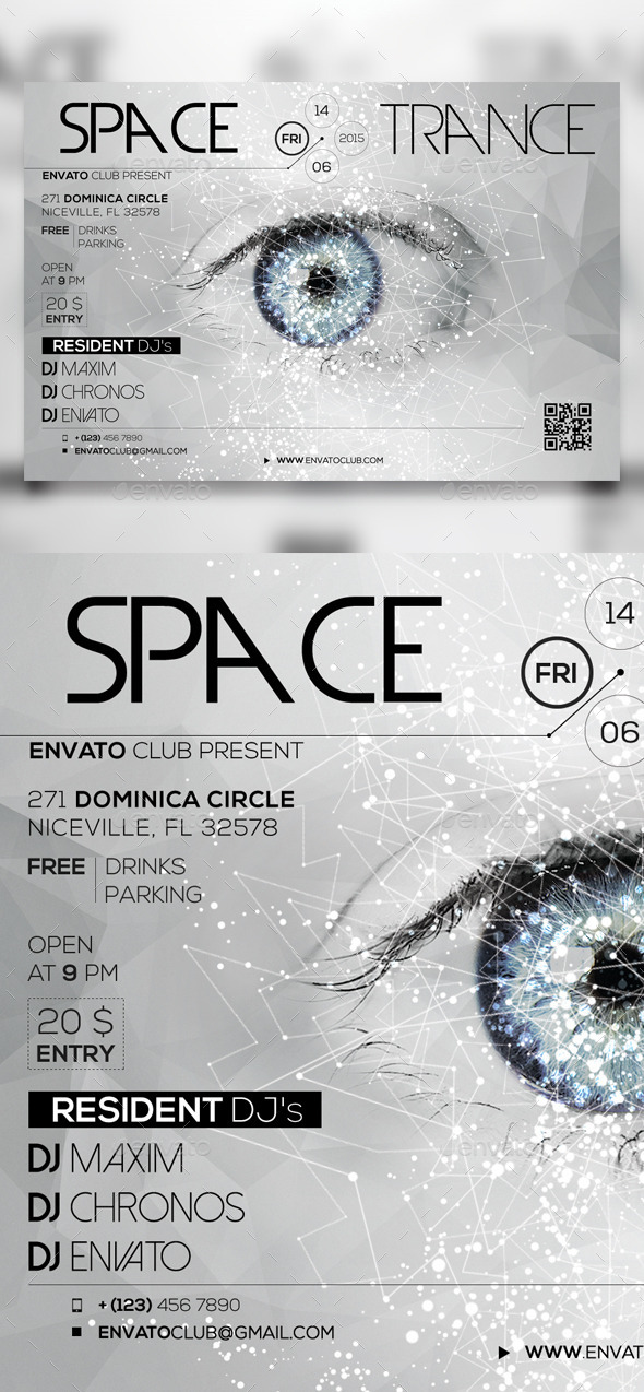 GraphicRiver Space Trance Flyer 11051648