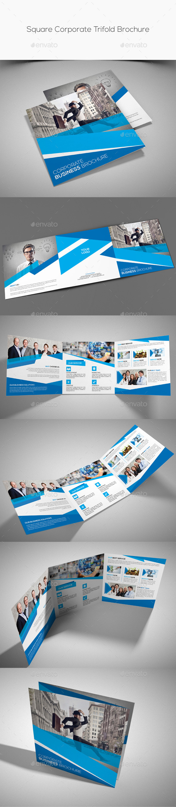 GraphicRiver Square Corporate Trifold Brochure 11212313