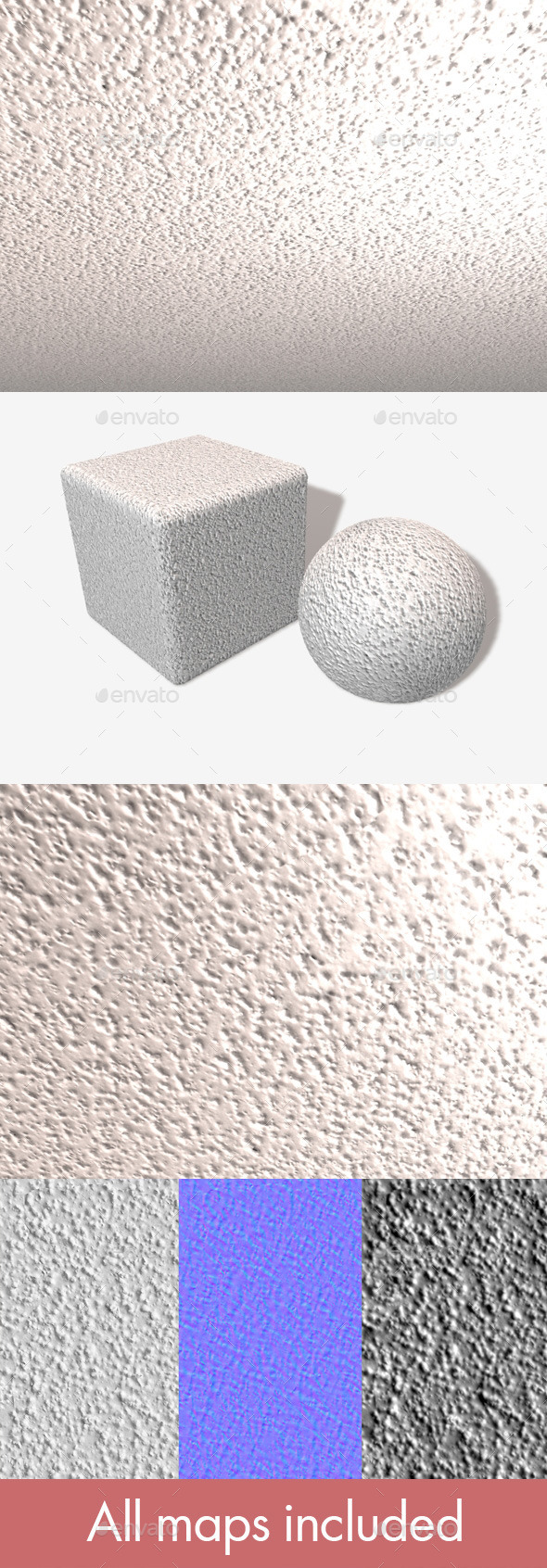 Textured Ceiling Plaster Seamless Texture - 3DOcean Item for Sale