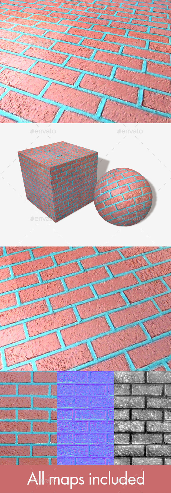 Fake Brick Seamless Texture - 3DOcean Item for Sale