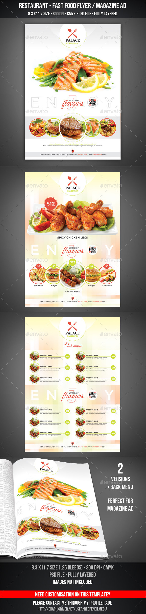 GraphicRiver Restaurant Fastfood Flyer Magazine AD 11212478