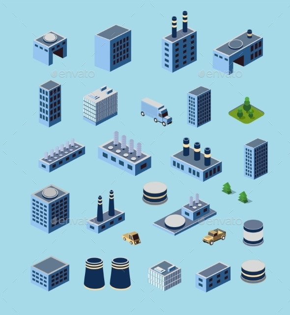 GraphicRiver Industrial Buildings 11212606