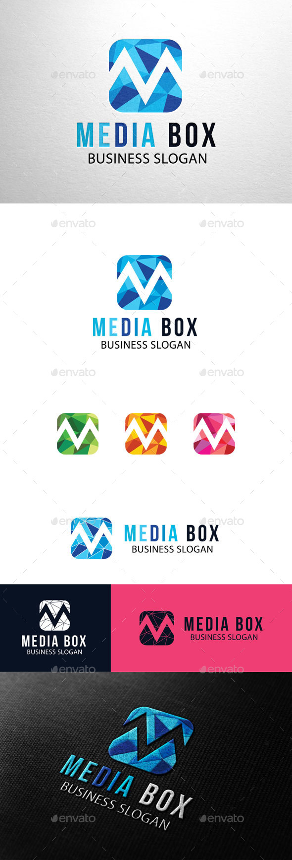GraphicRiver Media Box Letter M Logo 11212697