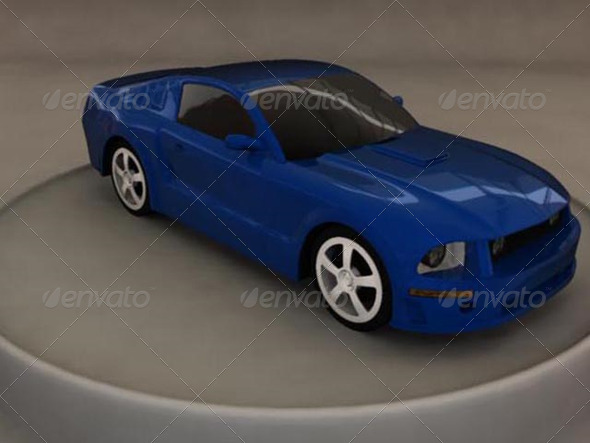 Ford Mustang 2005 3D Model - 3DOcean Item for Sale