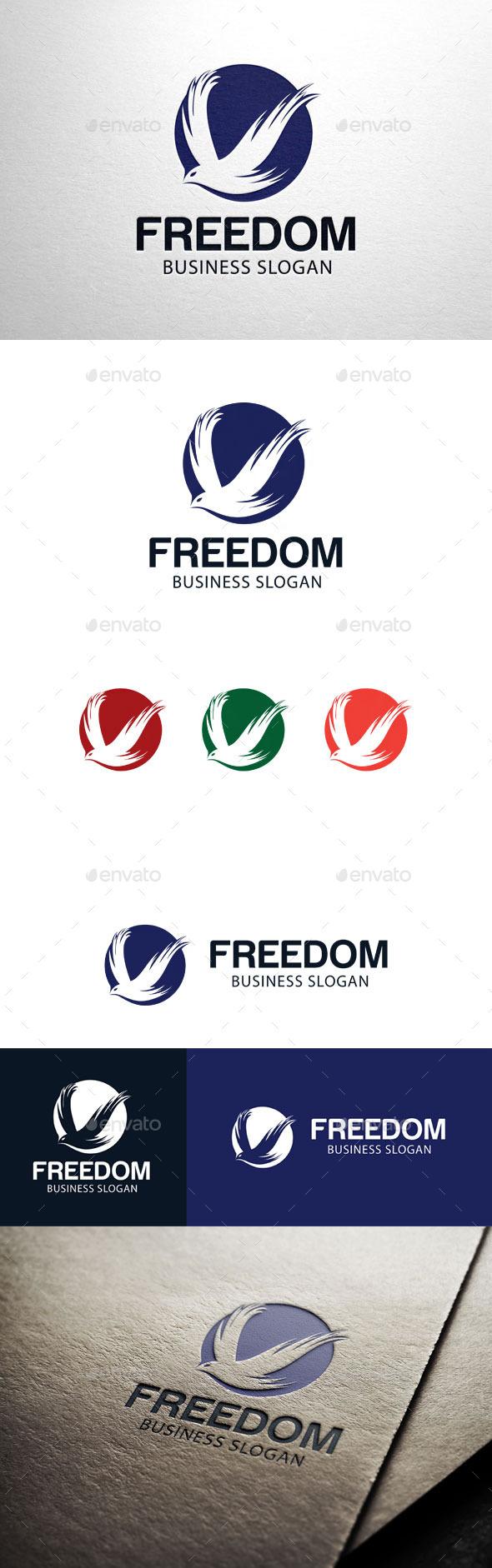 GraphicRiver Freedon Flying Bird Logo 11212743
