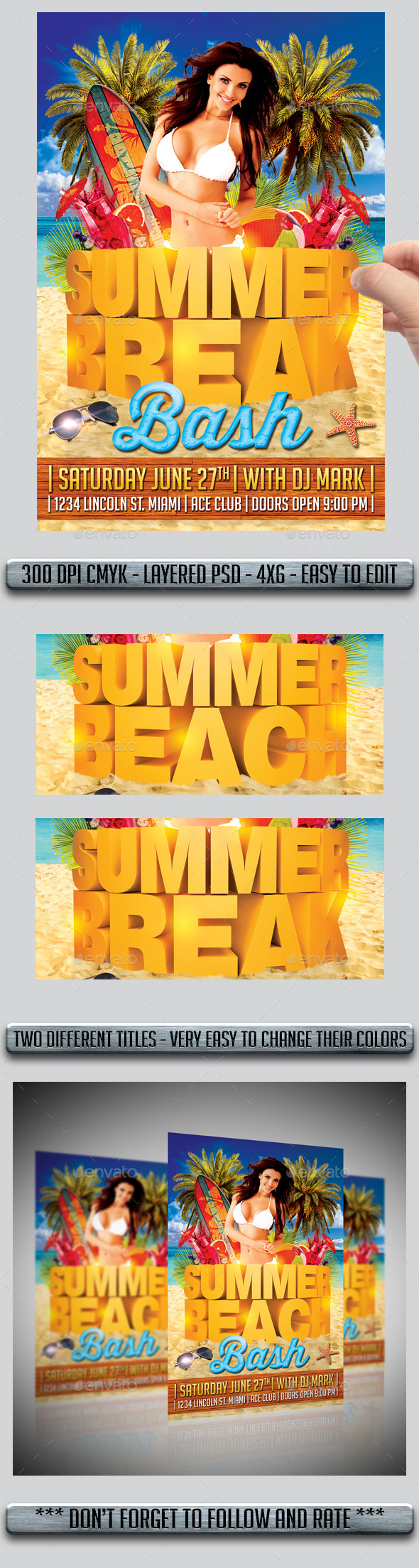 GraphicRiver Summer Flyer 11188339