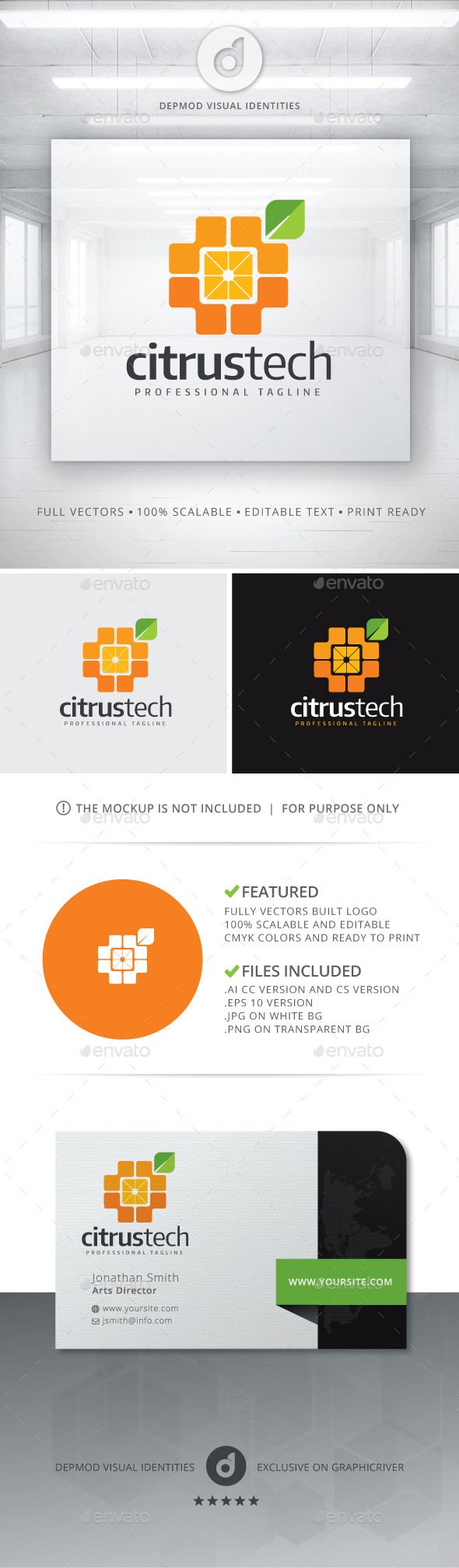 GraphicRiver Citrus Tech Logo 11212841