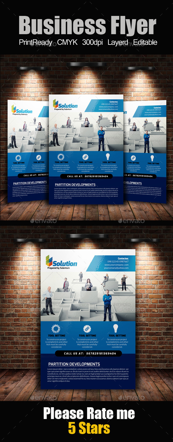 GraphicRiver A4 Business Flyer Template 11213028