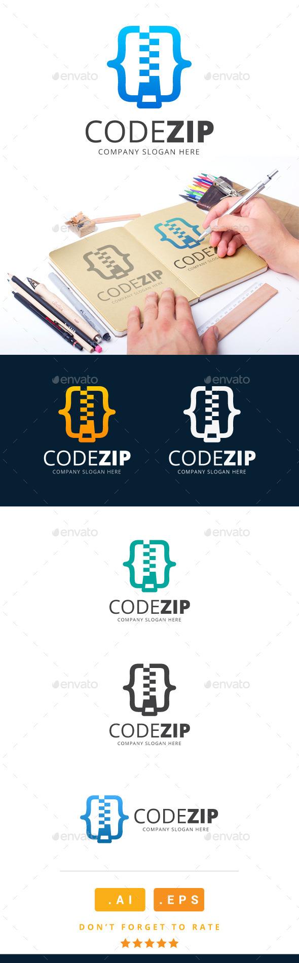 GraphicRiver Code Zip Logo 11213067