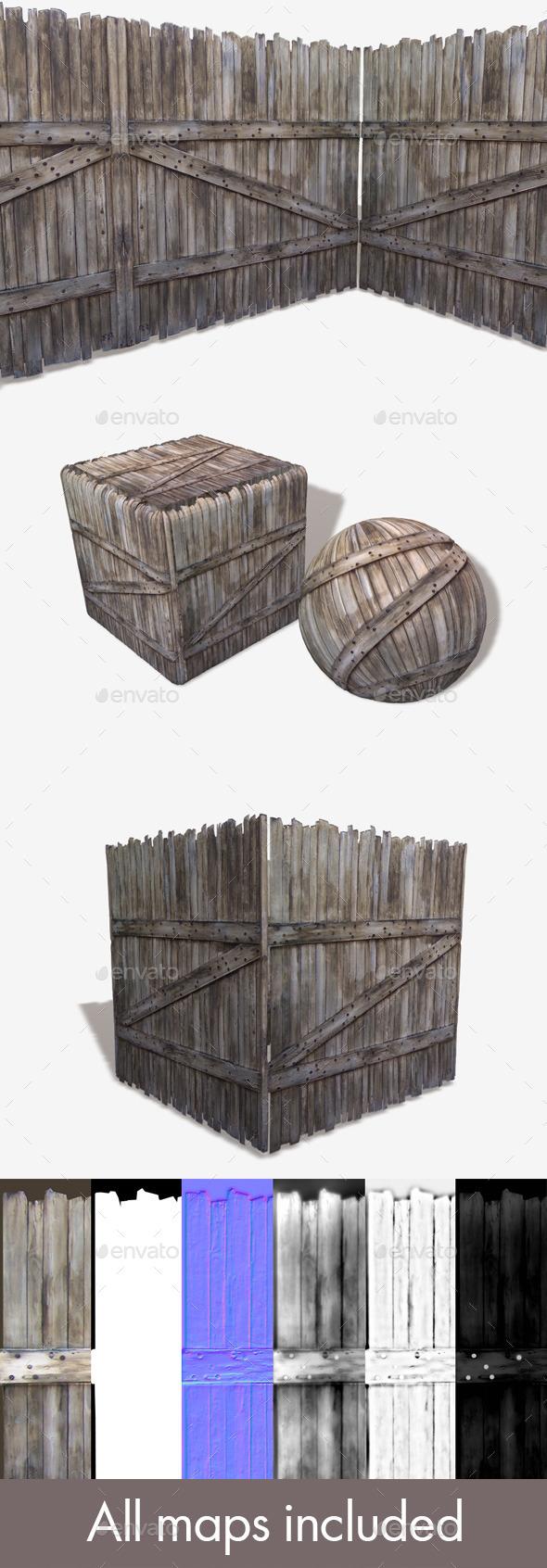 3DOcean Tall Wooden Gate Seamless Texture 11213114