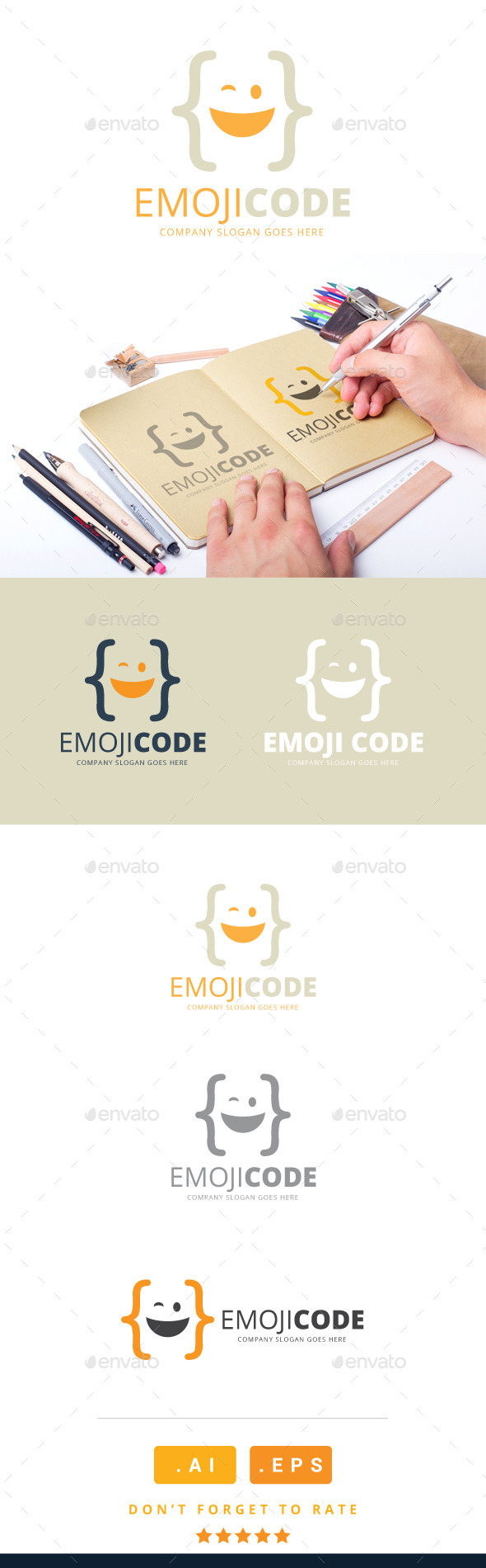GraphicRiver Emoji Code Logo 11213124