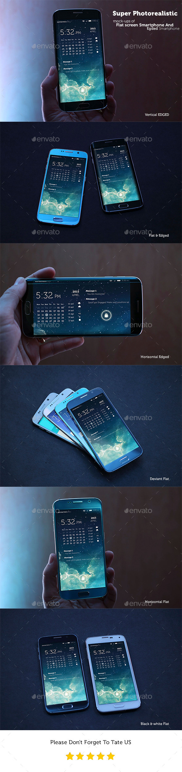 GraphicRiver Photorealistic Mobile Mockups Flat And Edged 11200484