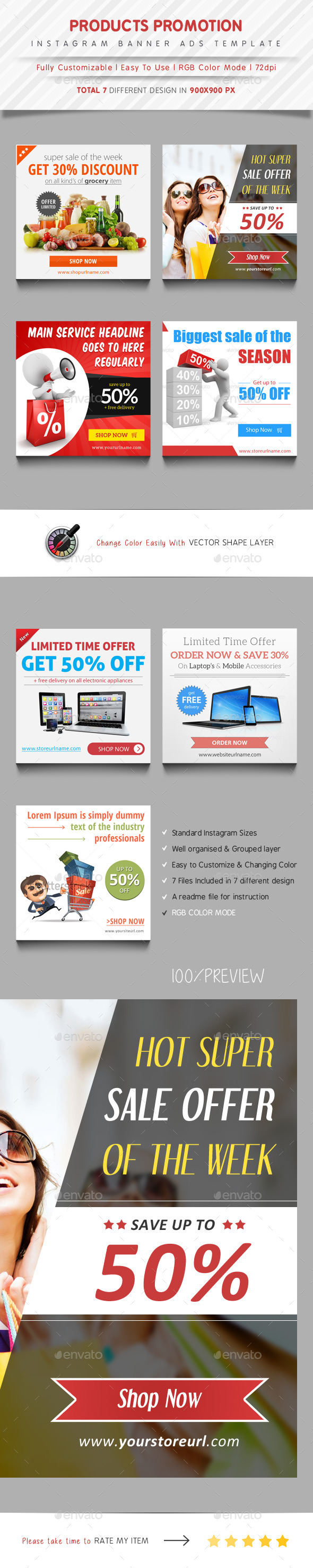 GraphicRiver Instagram Banner Ads Template 11213138