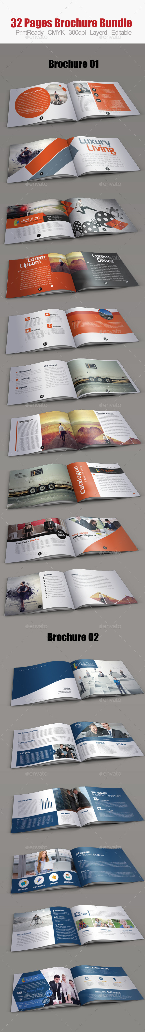 GraphicRiver Business Bifold Square Brochure Bundle 11213222